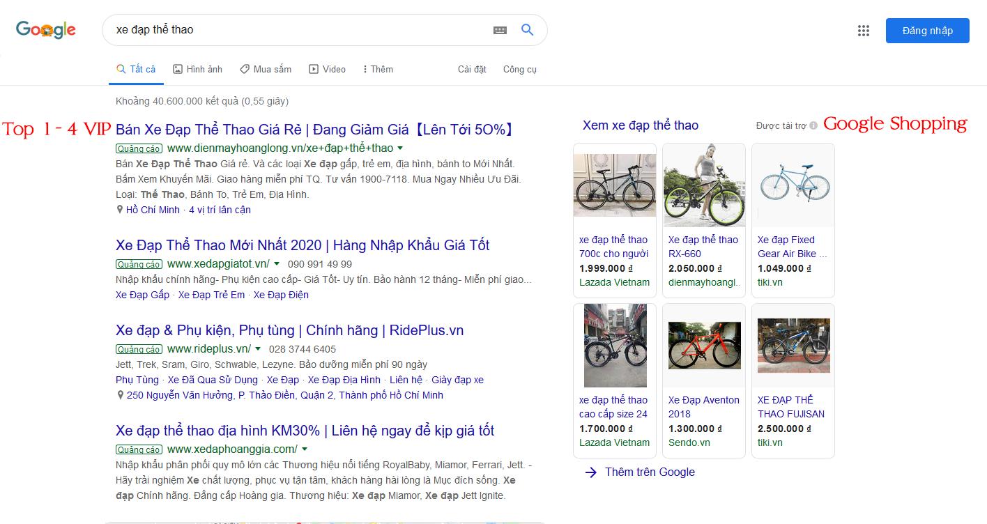 quảng cáo google top vip