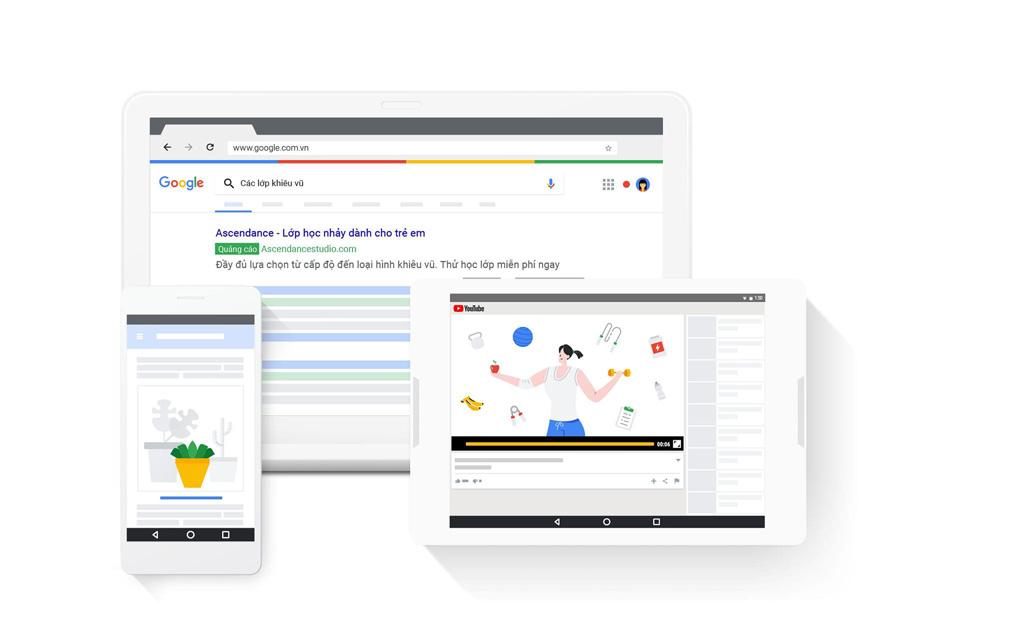 quang cao web tren google